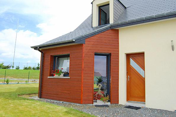 Extension maison ille et vilaine g c p au meilleur prix for Prix extension bois 20m2